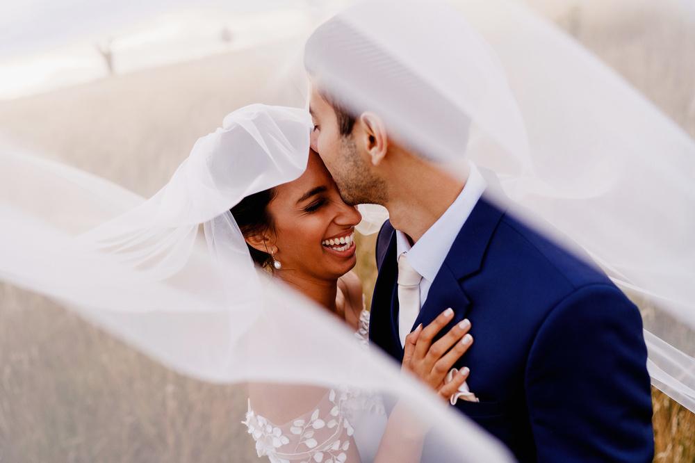 Intimate Live Streamed Wedding Bride Groom